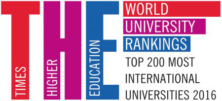 the 200 most international universities 2016